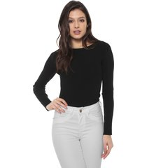 suéter banana republic tricot fitted boat-neck sweater top preto