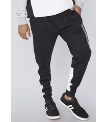 pantalon de buzo tricolor negro corona