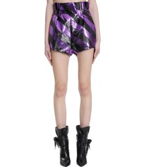 alexandre vauthier shorts in viola polyester