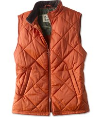barbour finn gilet, orange, xx large