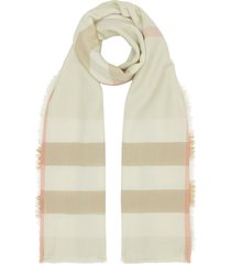 burberry lightweight vintage check scarf - green
