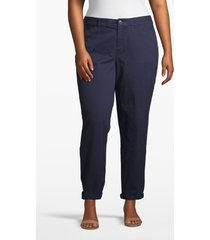 lane bryant women's boyfriend chino 28 dark water