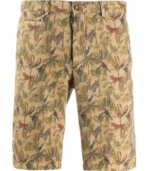 altea embroidered tailored shorts - brown