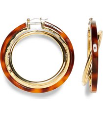women's vince camuto interlocking resin hoop earrings