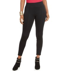 thalia sodi pintuck seamed-front leggings, created for macy's