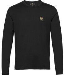 belstaff l/s t-shirt t-shirts long-sleeved zwart belstaff