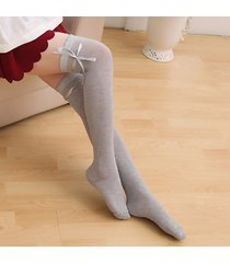 lovely women bowknot ribbon over knee coscia soft calze calze 9349290 traspirante lungo stivali