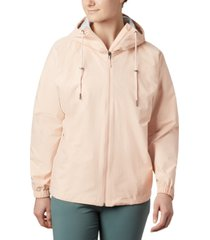 columbia women's park hooded colorblocked jacket