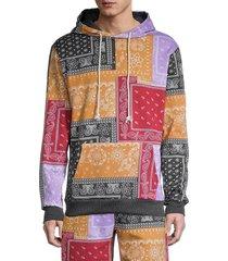 american stitch men's printed drawstring hoodie - size m