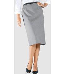 klassisk kjol m. collection silvergrå