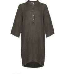 tiffany tiffany linne skjortklänning mörk armé, 17690