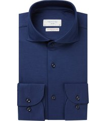 overhemd profuomo navy japanese knitted slim fit