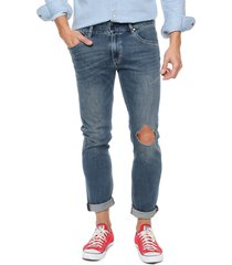 jean azul lee men cropped