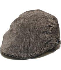 berretti britannici di velluto a coste vintage da donna, berretti e cappellino