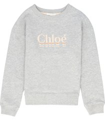 chloé cotton crew-neck sweatshirt