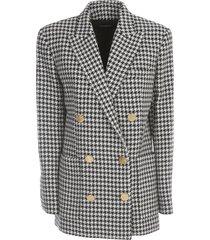 balmain 6 btn houndstooth boyfriend jacket