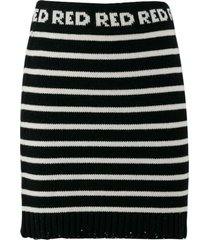 red valentino wool-cashmere blend skirt