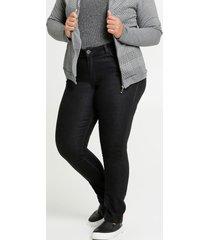calça jeans reta feminina plus size razon