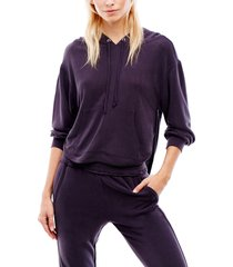 women's free people fp movement back into it cutout hoodie, size medium - blue
