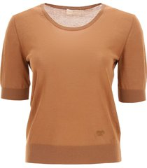 tory burch t monogram embroidered sweater