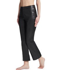 calzedonia cropped flair leather-look leggings woman black size s