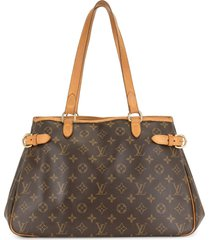 louis vuitton pre-owned batignolles horizontal tote bag - brown