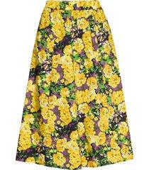 cassiagz aop skirt ao20 knälång kjol gul gestuz