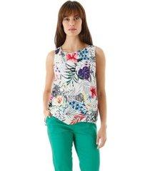blusa aha floral alças cruzadas feminino - feminino