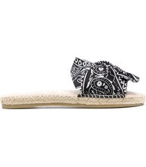 manebi woman flat sandals with knot - bandana - black