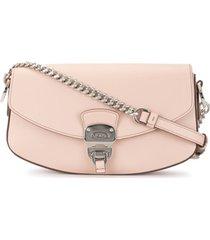 tod's bolsa tiracolo de couro - rosa