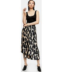 *black and white printed pleat skirt by topshop boutique - monochrome