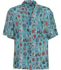 jewels print bowling shirt
