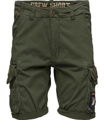 crew short patch shorts casual grön alpha industries