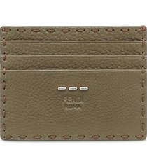 fendi business card holder - green