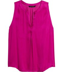 blusa sl soft satin top fucsia banana republic