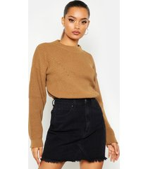 open knit turtle neck sweater, camel