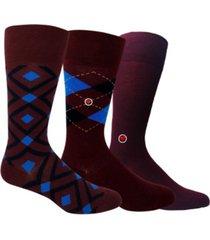 men's organic cotton patterned socks bundle, 3 pack