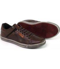 sapatênis couro tchwm shoes elastico ziper masculino - masculino