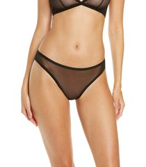 luelle elle classic mesh thong, size x-small in black at nordstrom