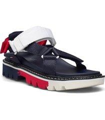 color pop tommy jeans sandal shoes summer shoes flat sandals blå tommy hilfiger