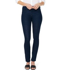 women's nydj alina stretch skinny jeans, size 2 - blue