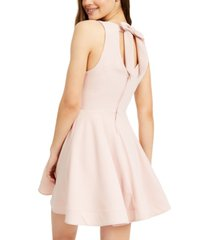 b darlin juniors' bow-back skater dress