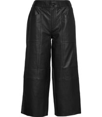 cammicr leather pants wijde broek zwart cream