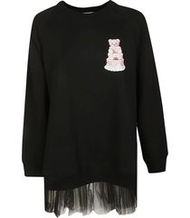 moschino ruffled hem long sweatshirt