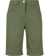 bermuda elasticizzati con lycra (verde) - bpc bonprix collection