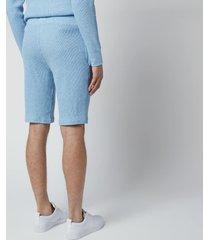 polo ralph lauren men's 40/01 waffle knit shorts - new powder blue heather - xl