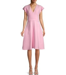 giambattista valli women's pintuck fit & flare dress - pink - size 42 (8)
