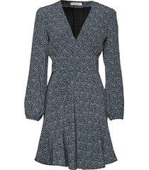 cindy short dress ls aop 10056 kort klänning blå samsøe samsøe