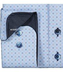 sleeve7 heren overhemd lichtblauw oxford kleuren circle print