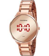 relógio digital mondaine feminino - 32060lpmvre2 rosê